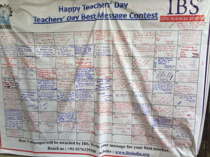 Teacher's Day Contest by IBS