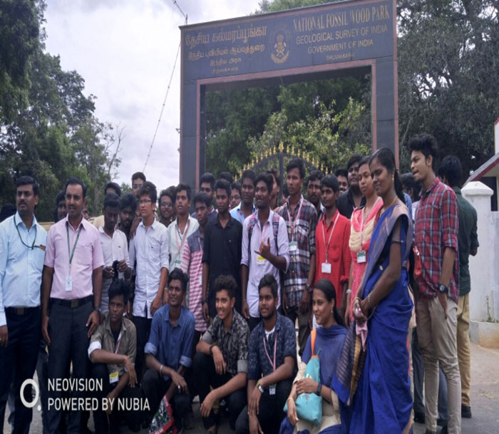 Industrial Visit to National Fossil Wood Park, organized by Dept of Petroleum Engineering