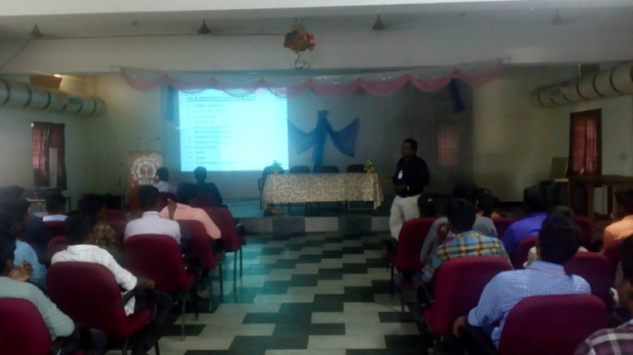 Seminar from CADDAM Technologies organized by  Dept of Automobile, Civil & Mechanical Engineering on 17 Jul 2018