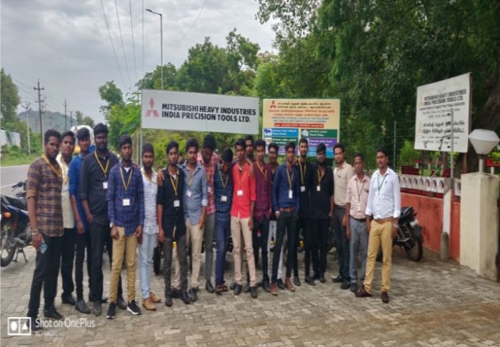 "Industrial Visit to ""MITSUBHISHI Heavy Industries"", Ranipet, on 25 Jul 2019"