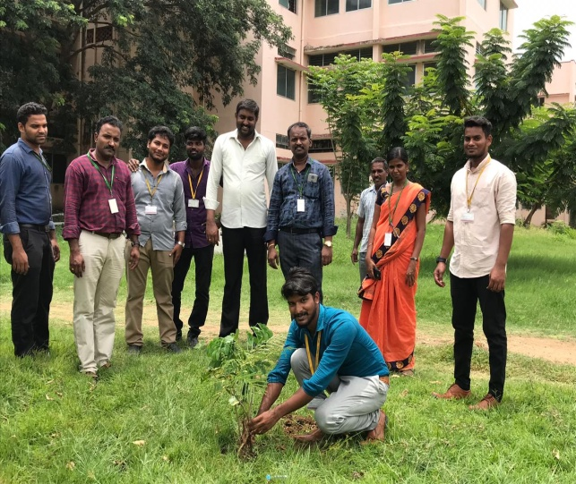 """Tree Plantation"" organized by NSS Unit, RGCE at Campus, on 13 Aug 2019"