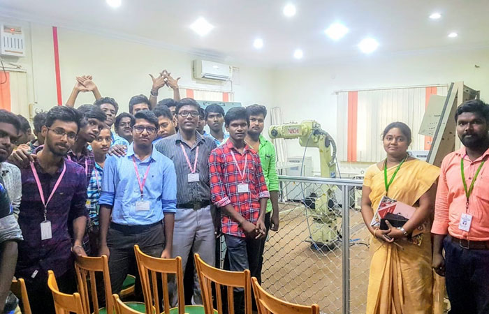 "Industrial Visit to ""Technocraft Solutions"" Chennai, on 06 Sep 2019"